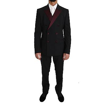 Dolce & Gabbana Black Wool 3 Piece Double Breasted