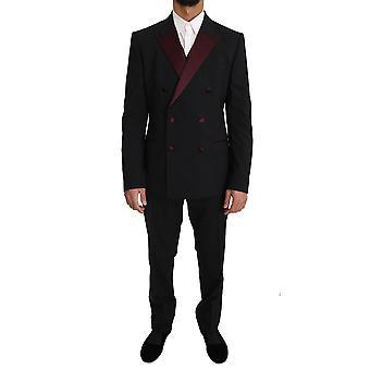 Dolce & Gabbana schwarze Wolle 3 Stück Doppelbrust