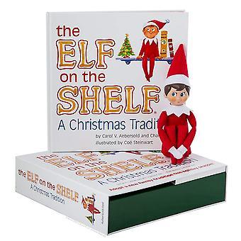 Elfo en la estantería: Una tradición navideña (chico de ojos azules). Elfo y Reserva