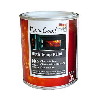 Gnidddi komfyr børste-på svart maling (500ml)