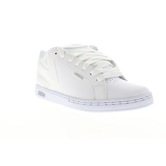 Etnies Fader Mens White Leather Low Top Lace Up Skate Sneakers Shoes