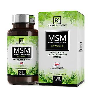 MSM (Methylsulfonylmethane) with Vitamin C (600mg) 180 Capsules