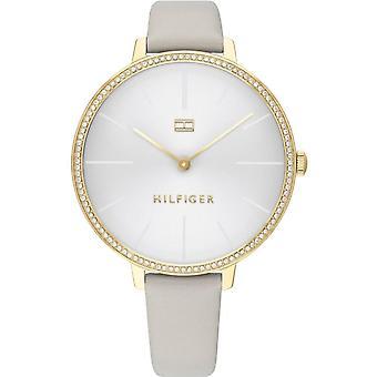 Tommy Hilfiger 1782110 Ladies Grey Leather Strap Wristwatch