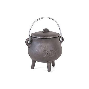 Gothic Homeware Triple Moon Cast Iron Cauldron