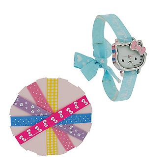 Hello titta Kitty Design Dial utbytbara sex dekorerade band HK028