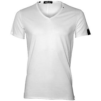 Replay Luxe V-Neck T-Shirt, White
