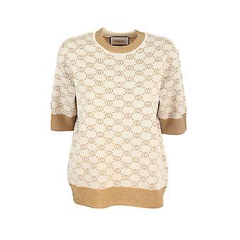 Gucci 605920xkaht8007 Women's Bege Wool Sweater