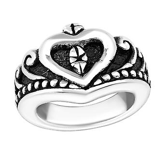 Electroform Heart Ring - 925 Sterling Silver Silver Heavy - W38961x