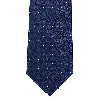 מייקלסון של לונדון גל עיצוב פוליאסטר עניבה-כחול