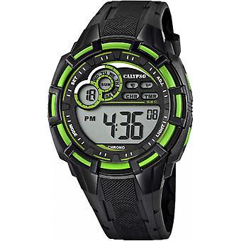 Montre Calypso K5625-3 - Montre Sport Digitale Verte Homme