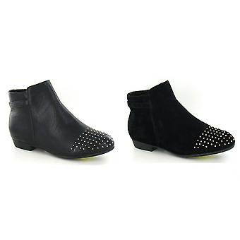 بقعة على المرأة/السيدات أحذية الكاحل مرصعة كعب منخفض