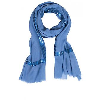 Bianca Blue Sequin Detailed Scarf