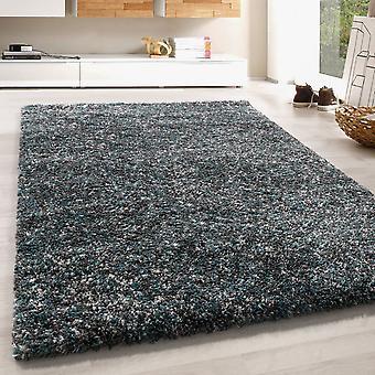 High Flor Shaggy Rug suave larga alfombra floral colorida gris beige azul crema derretida