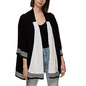 Aggel Knitwear Women's Cardigan With Print