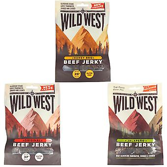 Wild West Mixed Flavour Beef Jerky 70G X 12
