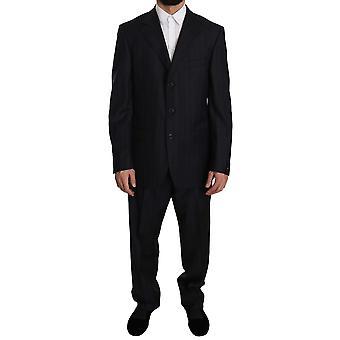 Z ZEGNA Blue Striped Two Piece 3 Button Suit -- KOS1622320