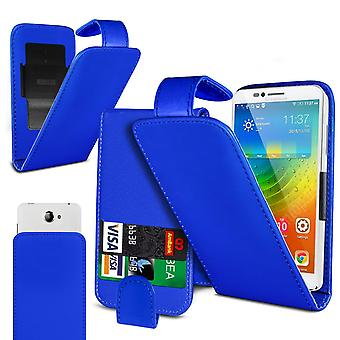 Allview X5 Soul Large Blue Clamp Style PU Cuir Flip Phone Case
