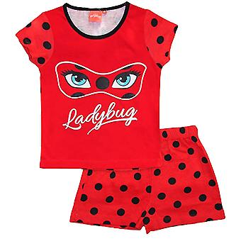 Miraculous ladybug girls pyjama set red mlb2108