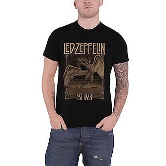 Led Zeppelin T Shirt Faded Falling Band Logo Est 1968 new Official Mens Black