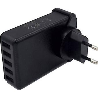 HN Power HNP40-5USB-EU HNP40-5USB-EU USB-lader Mains socket Max. uitgang 8000 mA 5 x USB Geregeld