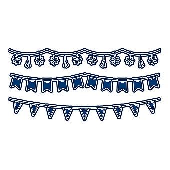 Tattered Lace Picture Bunting Die Set