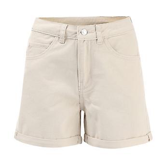 Women's Vero Moda Negentien High Rise Loose Shorts in Cream