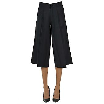 Paio Crippa Ezgl551003 Women's Blue Wool Pants