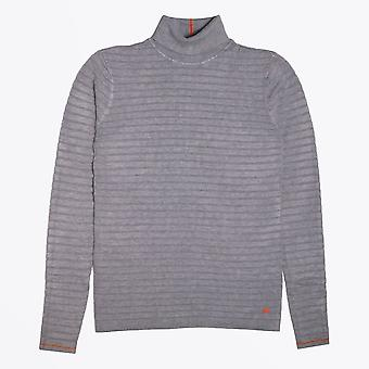 Blue Industry  - Textured High Neck Knit - Grey