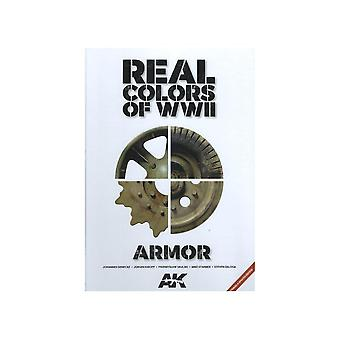 Book - Aircraft & Models Real Colors Of WWII Armor 2nd Edition  - AK BOOK