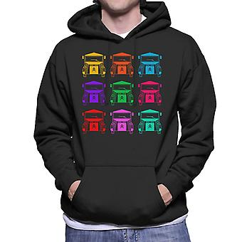 Citro�n Vintage Type H Van Colour Pattern Men's Hooded Sweatshirt