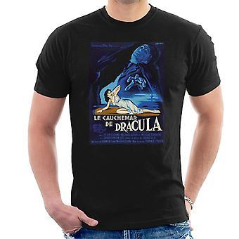 Hammer Horror Films Dracula Français Movie Poster Men-apos;s T-Shirt