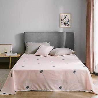 Moderne weiche Baumwolle Blume Obst geometrische Druck flache Bettlaken und Kissenbezug -