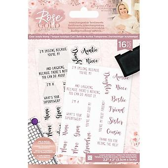 Crafter's Companion Clear Stamp - Rose Gold Interchangeable Sentiments