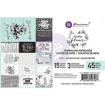Prima Marketing Flirty Fleur 4x6 Inch Journaling Cards