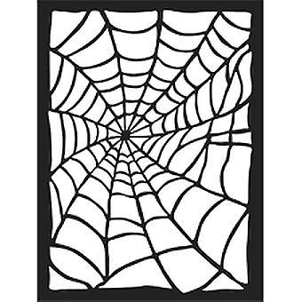 Dicke Schablone 15x20cm Spinnennetz (KSAT01)
