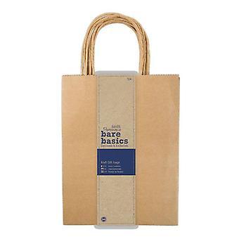 Papermania Bare Basics Large Kraft Gift Bags (5 pcs) (PMA 174204)