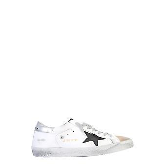 Golden Goose Gmf00101f00035810284 Hombres's zapatillas de cuero blanco