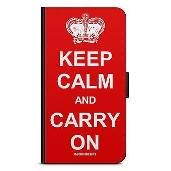Bjornberry Plånboksfodral LG G5 - Keep calm carry on