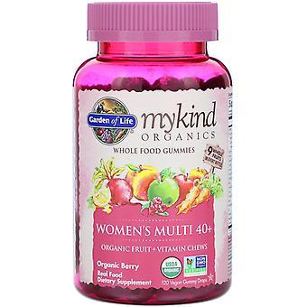 Garden of Life, MyKind Organics, Women's Multi 40+, Organic Berry, 120 Vegan Gum