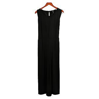 Du Jour Regular Jumpsuit Cropped Wide Leg Knit W/ Tie Black A374225