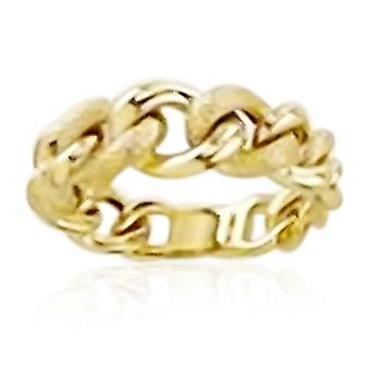 9ct Gul Guld Gradueret Curb Ring for kvinder, Guld wt 3,00 Gms. TJC