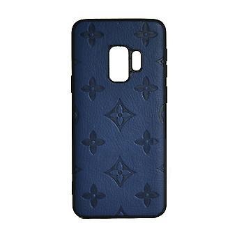Phone Case Shockproof Cover Monogram GG For Samsung S9 (Blue)
