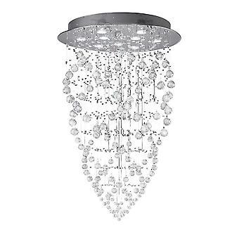 Stożek wisiorkowy sufitowy 9 Jasno polerowany chrom, kryształ