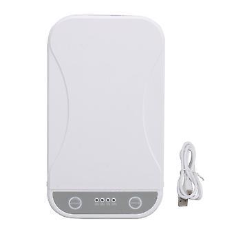 UV-valo sanitzier laatikko 5V / 2A älypuhelimille valkoinen
