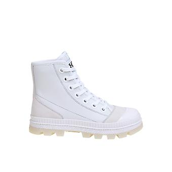 Jimmy Choo Nordfnlybianco Women's White Leather Hi Top Sneakers