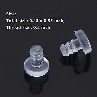 Clear Rubber Glass, Table Top Spacers Anti Collision Embedded Soft Stem Bumpers