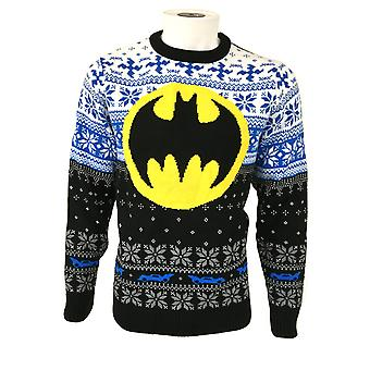 Batman Unisex Adult Logo Christmas Jumper