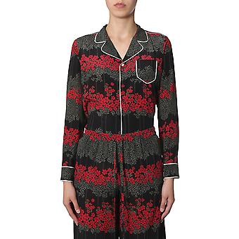 Red Valentino Sr3ab1754a10no Women's Multicolor Silk Shirt