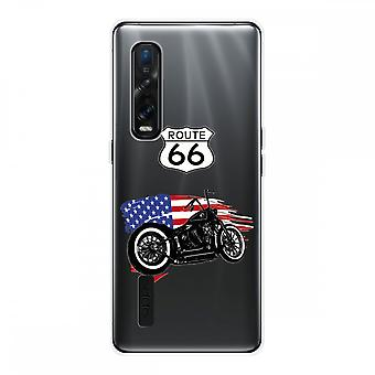 Hull For Oppo Find X2 Pro In Silicone Soft 1 Mm, Moto Harley
