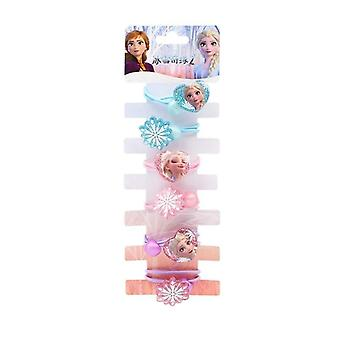 6pcs/set Genuine Disney Frozen 2 Kids Doll Accessories -elsa Hairline